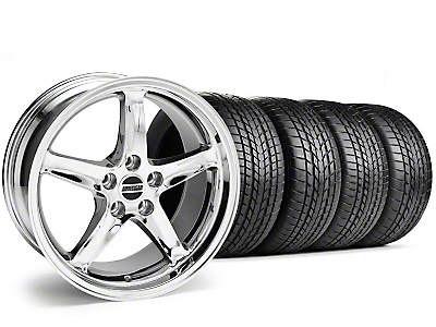 Staggered 1995 Cobra R Style Chrome Wheel & Sumitomo Tire Kit - 17x9/10.5 (99-04)