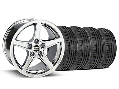 Saleen Style Chrome Wheel & Sumitomo Tire Kit - 17x9 (99-04 All)