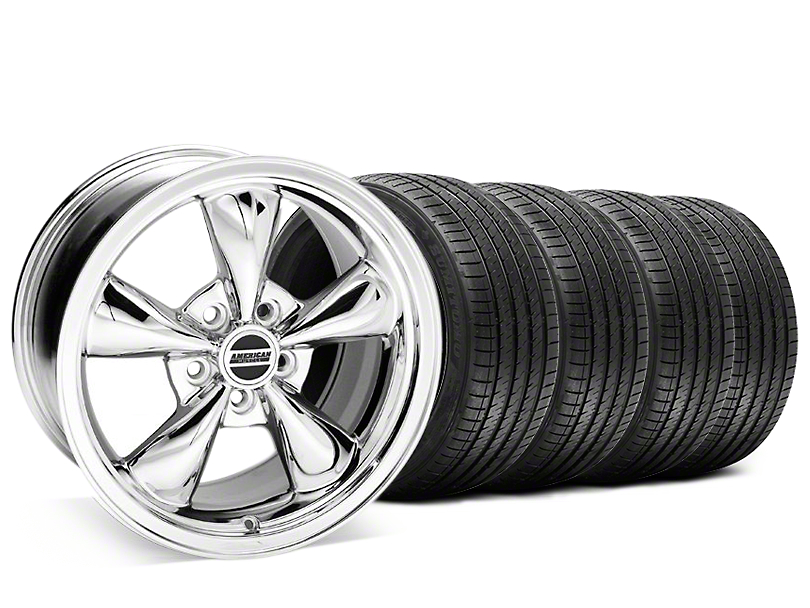 Staggered Bullitt Chrome Wheel & Sumitomo Maximum Performance HTR Z5 Tire Kit - 20x8.5/10 (05-10 GT; 05-14 V6)