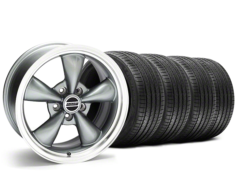 Staggered Bullitt Anthracite Wheel & Sumitomo Tire Kit - 20x8.5/10 (05-10 GT; 05-14 V6)