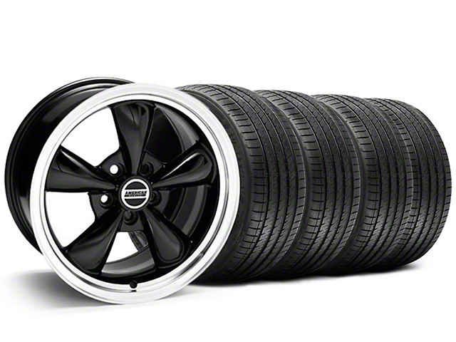 Staggered Bullitt Black Wheel & Sumitomo Tire Kit - 20x8.5/10 (05-10 GT; 05-14 V6)
