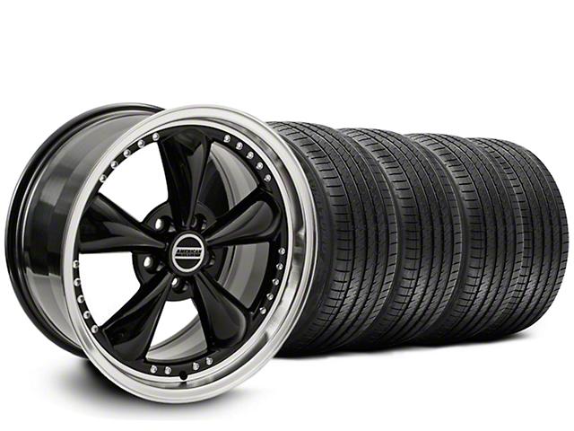 Mustang Staggered Bullitt Motorsport Black Wheel Sumitomo Tire Kit