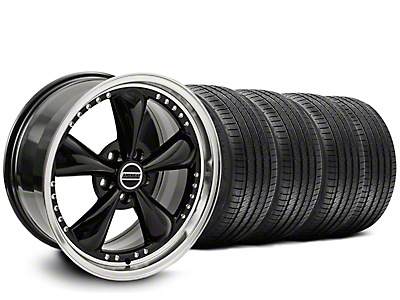 Staggered Bullitt Motorsport Black Wheel & Sumitomo Tire Kit - 20x8.5/10 (05-14 V6; 05-10 GT)