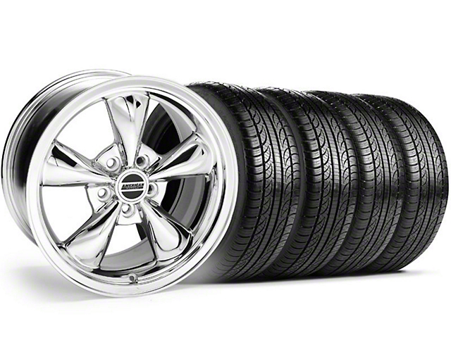 Bullitt Chrome Wheel and Pirelli Tire Kit; 19x8.5 (05-14 Standard GT, V6)