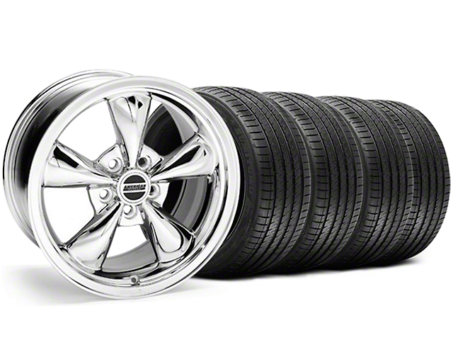Bullitt Chrome Wheel and Sumitomo Maximum Performance HTR Z5 Tire Kit; 18x9 (05-10 GT; 05-14 V6)