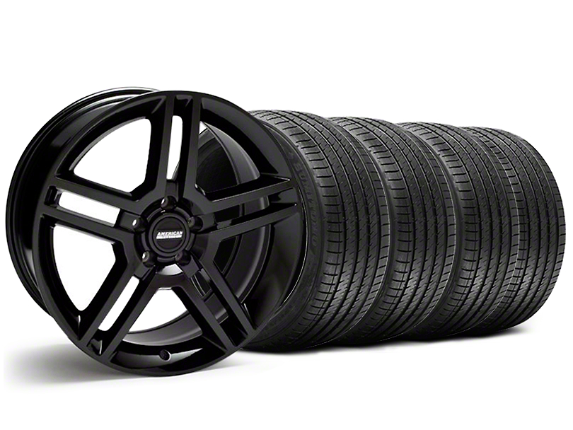 2010 GT500 Style Black Wheel & Sumitomo Tire Kit - 18x9 (05-14 All, Excluding 13-14 GT500)