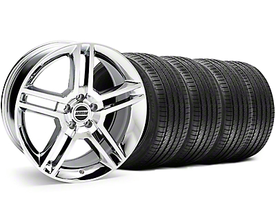 2010 GT500 Style Chrome Wheel & Sumitomo Tire Kit - 18x9 (05-14 All, Excluding 13-14 GT500)