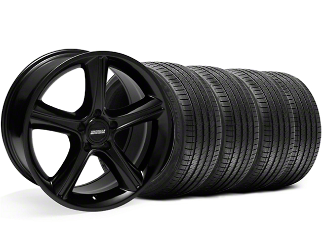 2010 GT Premium Style Black Wheel and Sumitomo Maximum Performance HTR Z5 Tire Kit; 18x9 (05-14 GT, V6)