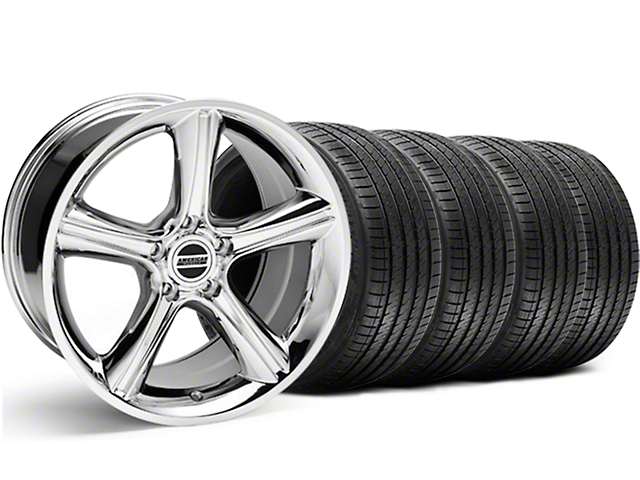 2010 GT Premium Style Chrome Wheel & Sumitomo Maximum Performance HTR Z5 Tire Kit - 18x9 (05-14 GT, V6)
