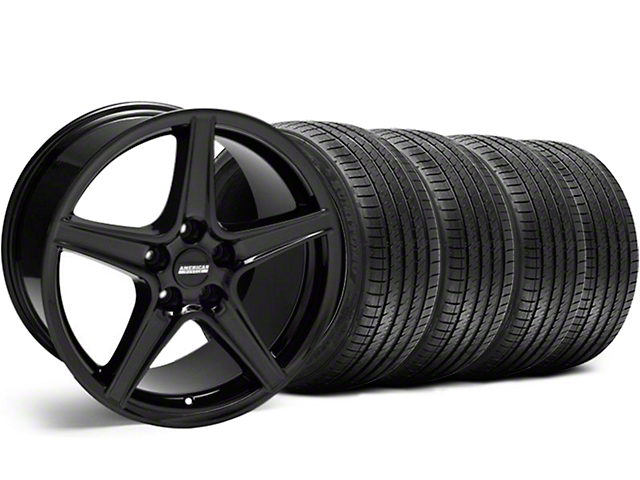 Saleen Style Black Wheel & Sumitomo Tire Kit - 18x9 (99-04 All)