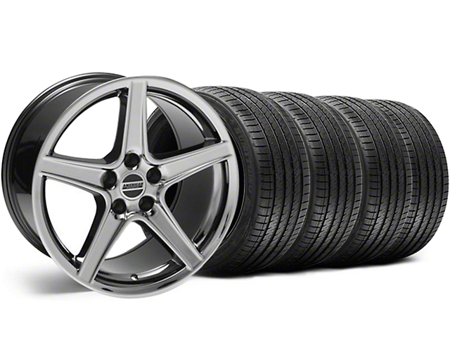 Saleen Style Black Chrome Wheel & Sumitomo Tire Kit - 18x9 (99-04 All)