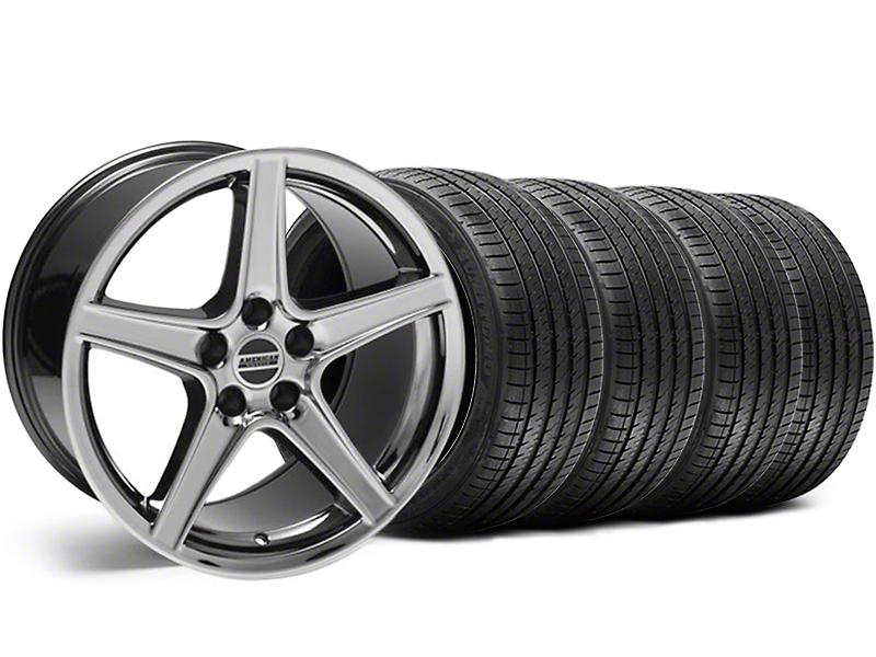 Saleen Style Black Chrome Wheel & Sumitomo Tire Kit - 18x9 (99-04 All)