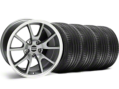 FR500 Style Anthracite Wheel & Sumitomo Tire Kit - 18x9 (99-04 All)