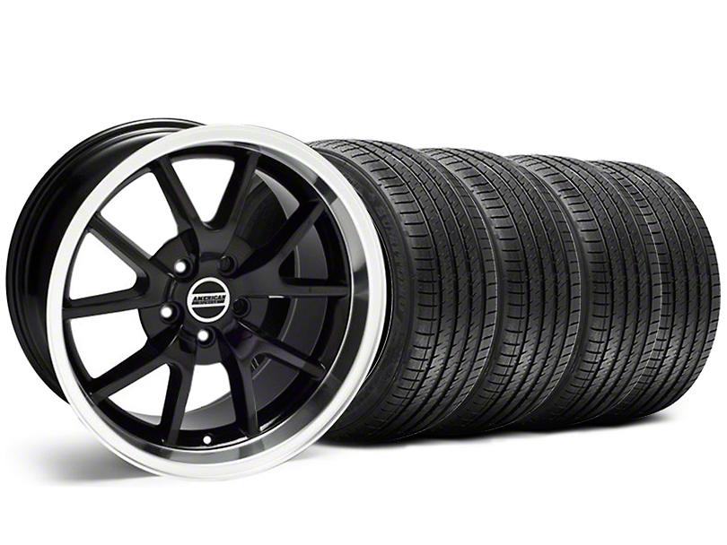 FR500 Style Black Wheel and Sumitomo Maximum Performance HTR Z5 Tire Kit; 18x9 (99-04 All)