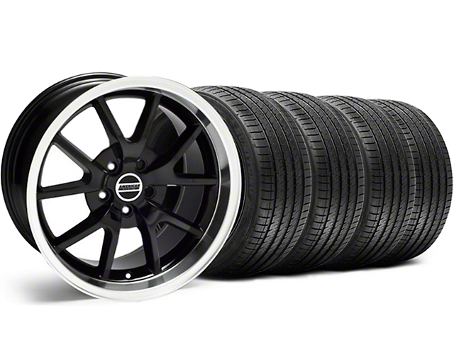 FR500 Style Black Wheel and Sumitomo Maximum Performance HTR Z5 Tire Kit; 18x9 (99-04 All)