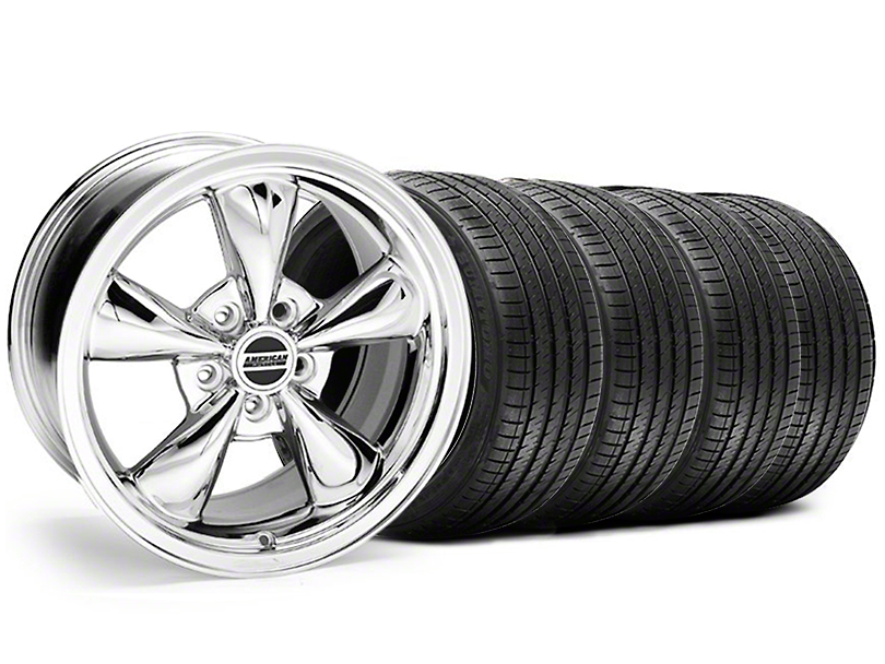 Staggered Bullitt Chrome Wheel & Sumitomo Tire Kit - 18x9/10 (05-10 GT; 05-14 V6)