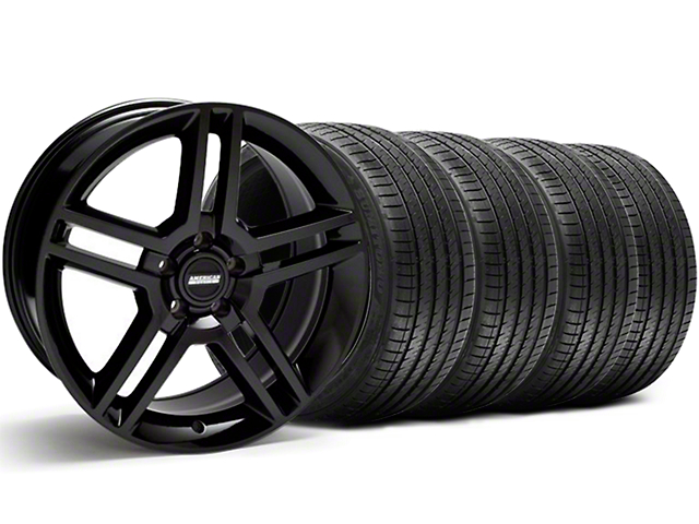 Staggered 2010 GT500 Style Black Wheel & Sumitomo Tire Kit - 18x9/10 (05-14 All)