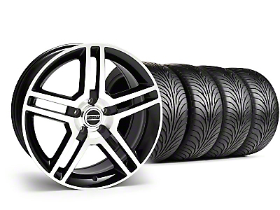 Staggered 2010 GT500 Style Black Machined Wheel & Sumitomo Tire Kit - 18x9/10 (05-14 All)