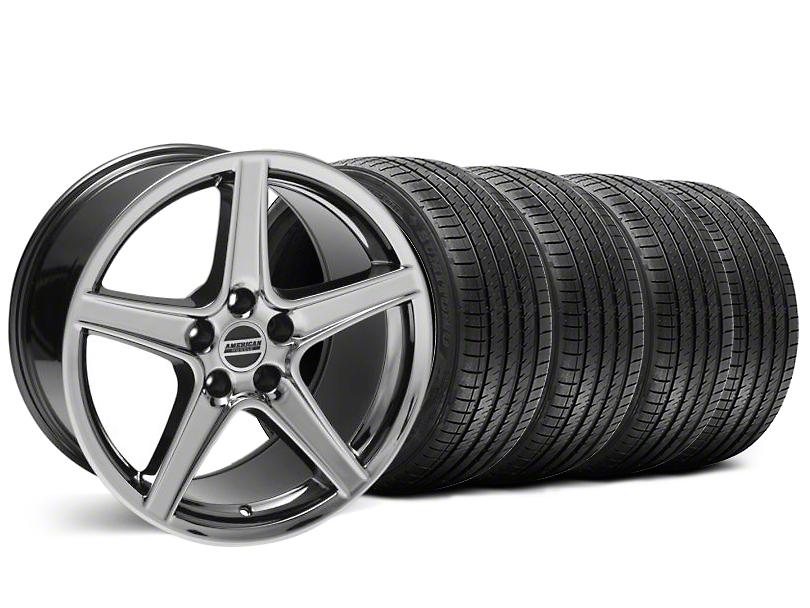 Staggered Saleen Style Black Chrome Wheel & Sumitomo Tire Kit - 18x9/10 (99-04 All)