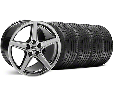 Staggered Saleen Style Black Chrome Wheel & Sumitomo Tire Kit - 18x9/10 (99-04)