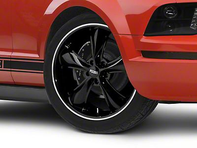 Foose Legend Black Wheel - 20x8.5 (05-14 Standard GT, V6)