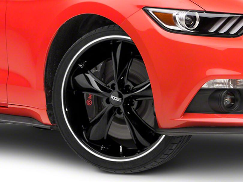 Foose Legend Black Wheel - 20x8.5 (15-17 V6, EcoBoost)
