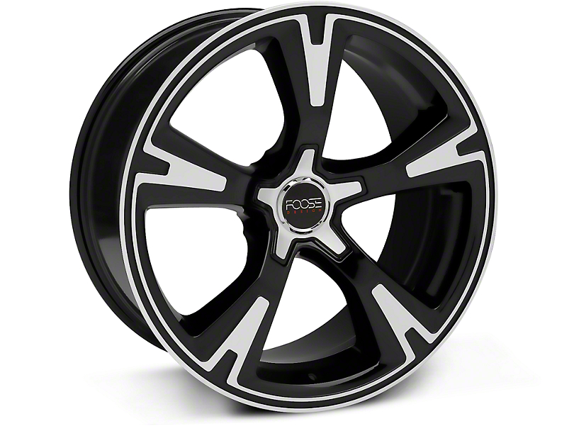 Foose RS Black Machined Wheel - 20x10 (15-17 All)
