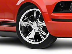 Foose Legend Chrome Wheel; 18x9.5 (05-09 GT, V6)