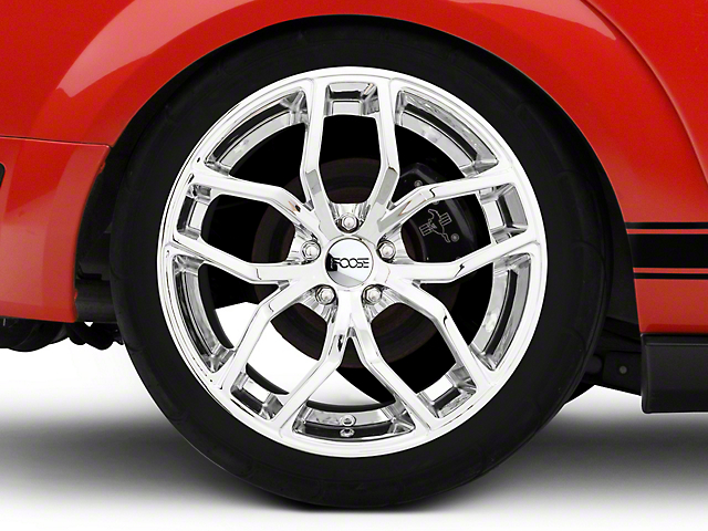 Foose Outcast Chrome Wheel; Rear Only; 20x10 (05-09 All)