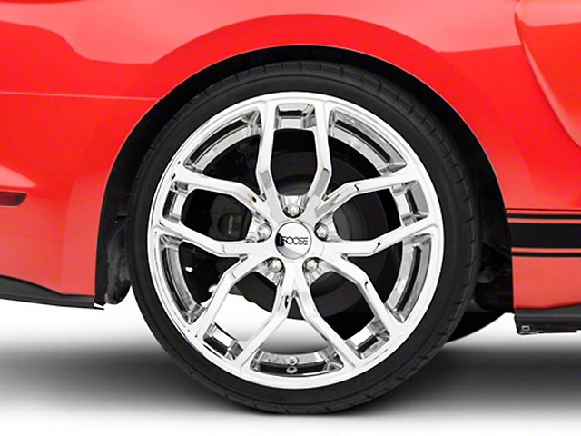 Foose Outcast Chrome Wheel - 20x10 (15-18 GT, EcoBoost, V6)