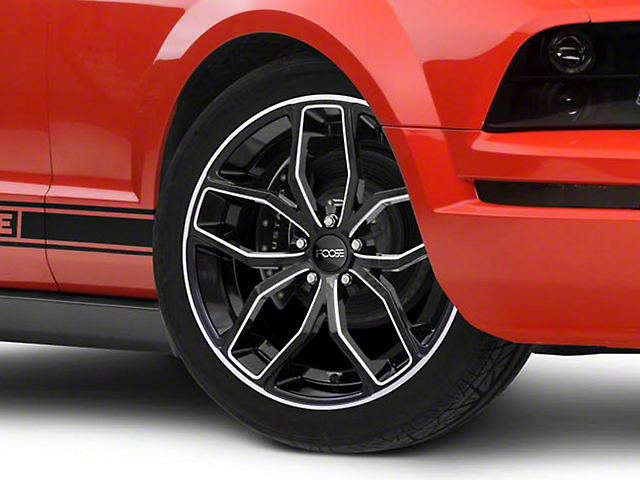 Foose Outcast Black Machined Wheel; 20x8.5 (05-09 All)