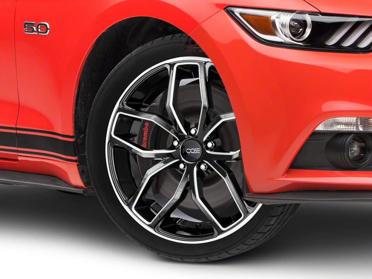 Foose Outcast Black Machined Wheel - 20x8.5 (15-19 GT, EcoBoost, V6)