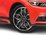 Foose Outcast Black Machined Wheel; 20x8.5 (15-20 GT, EcoBoost, V6)