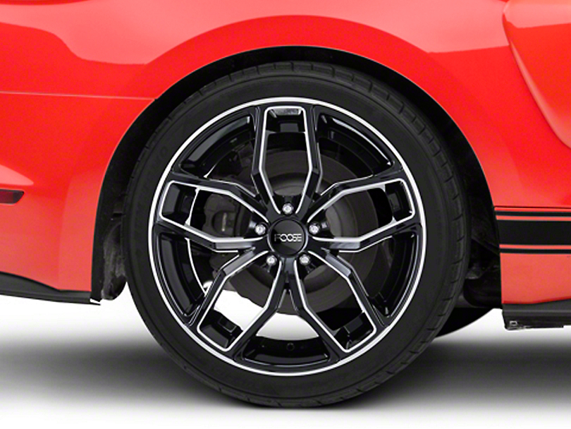 Foose Outcast Black Machined Wheel - 20x10 - Rear Only (15-19 GT, EcoBoost, V6)