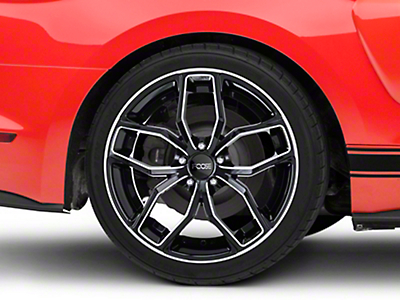 Foose Outcast Black Machined Wheel - 20x10 (15-18 GT, EcoBoost, V6)