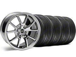 Staggered FR500 Style Chrome Wheel and Sumitomo Maximum Performance HTR Z5 Tire Kit; 18x9/10 (99-04 All)
