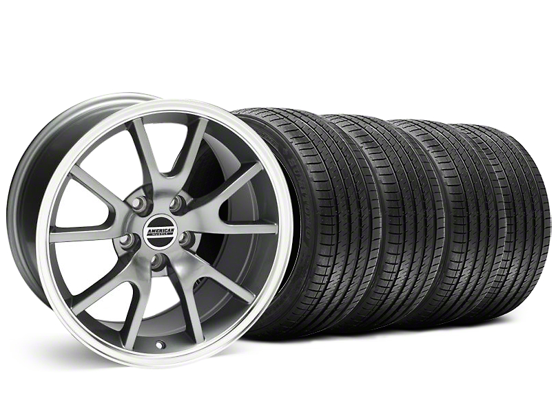 Staggered FR500 Style Anthracite Wheel & Sumitomo Tire Kit - 18x9/10 (99-04 All)