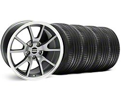 Staggered FR500 Style Anthracite Wheel and Sumitomo Maximum Performance HTR Z5 Tire Kit; 18x9/10 (99-04 All)
