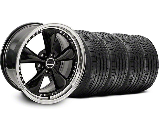 Bullitt Motorsport Black Wheel and Sumitomo Maximum Performance HTR Z5 Tire Kit; 18x9 (99-04 All)