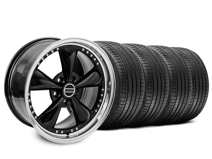 Staggered Bullitt Motorsport Black Wheel & Sumitomo Tire Kit - 18x9/10 (99-04 All)