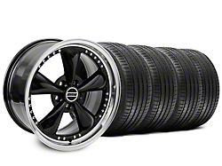 Staggered Bullitt Motorsport Black Wheel and Sumitomo Maximum Performance HTR Z5 Tire Kit; 18x9/10 (99-04 All)