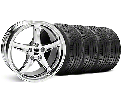 Staggered 1995 Cobra R Style Chrome Wheel & Sumitomo Tire Kit - 18x9/10 (99-04 All)