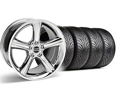 Staggered 2010 GT Premium Style Chrome Wheel & Sumitomo Tire Kit - 18x9/10 (99-04)