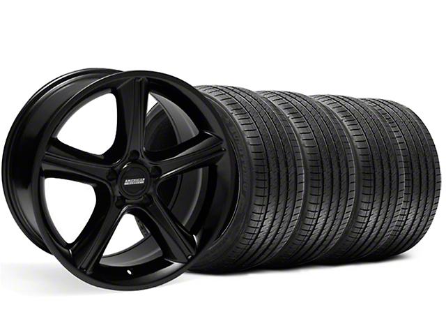 2010 GT Premium Style Black Wheel and Sumitomo Maximum Performance HTR Z5 Tire Kit; 18x9 (99-04 All)