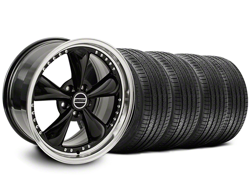 Bullitt Motorsport Black Wheel & Sumitomo Maximum Performance HTR Z5 Tire Kit - 18x9 (05-14 Standard GT, V6)