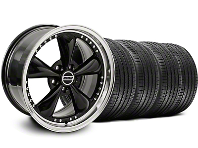 Staggered Bullitt Motorsport Black Wheel & Sumitomo Tire Kit - 18x9/10 (05-14 Standard GT, V6)