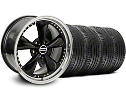 Staggered Bullitt Motorsport Black Wheel and Sumitomo Maximum Performance HTR Z5 Tire Kit; 18x9/10 (05-14 Standard GT, V6)