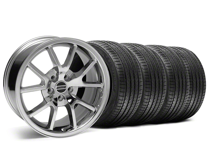 Staggered FR500 Style Chrome Wheel & Sumitomo Tire Kit - 18x9/10 (05-14 All)