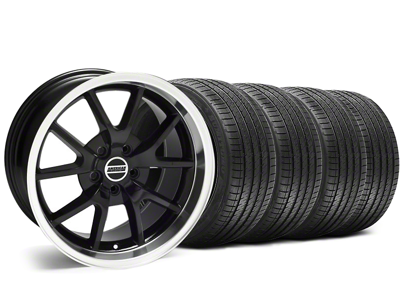 FR500 Style Black Wheel and Sumitomo Maximum Performance HTR Z5 Tire Kit; 18x9 (05-14 All, Excluding 13-14 GT500)