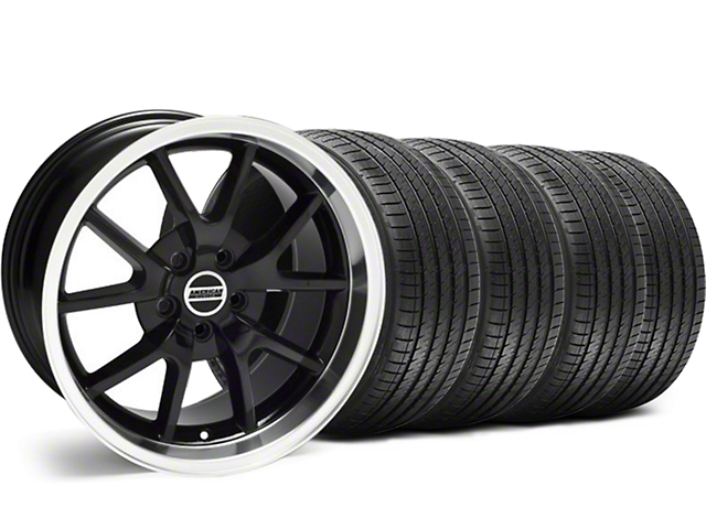 Staggered FR500 Style Black Wheel and Sumitomo Maximum Performance HTR Z5 Tire Kit; 18x9/10 (05-14 All)